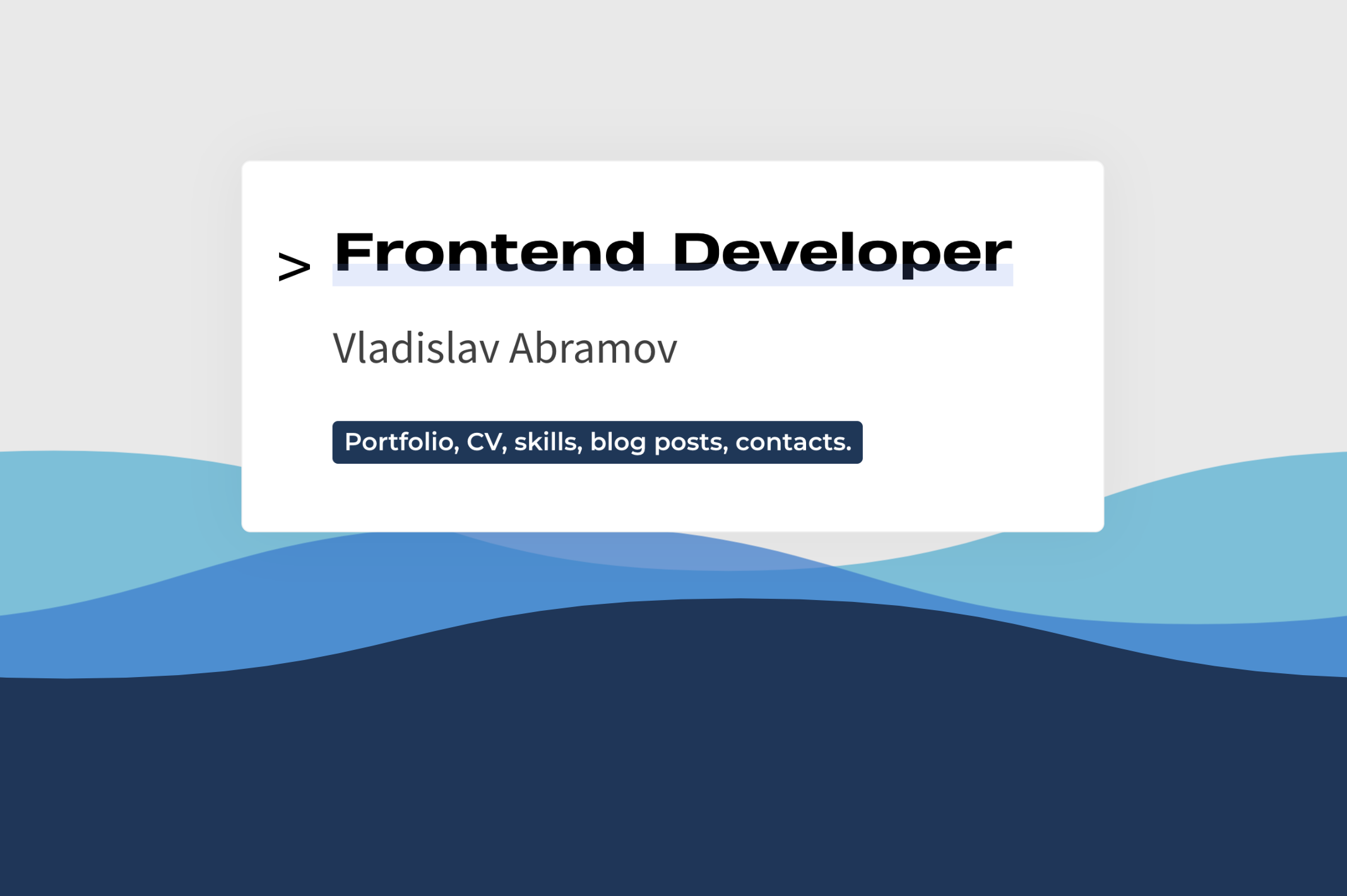 Vlad Abramov Front-end Developer